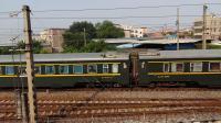 京局京段的HXD3D型电力机车牵引京广线的王牌直达特快Z35次列车从郭塘站经过