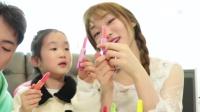 新奇儿童零食玩具!珠珠的秘密戒指糖果VS小豆子口红糖