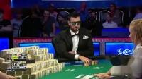 德州扑克:WSOP主赛决赛桌,这个底对弃的真艰难,是有多不相信大哥