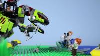 乐高定格动画侏罗纪LEGO Jurassic World STOP MOTION LEGO Baryonyx Attack _ LEGO Jurassic