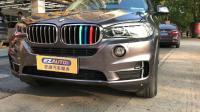 杭州汽车改色贴膜,宝马X5全车黑色车漆贴金属钛灰改色膜