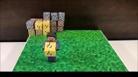 纸板制作《我的世界》游戏机,手柄控制游戏人物史蒂夫