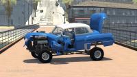 BeamNG模拟汽车高速碰撞车祸