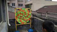 君晓天云室内休闲儿童玩具抛球游戏飞标靶套装幼儿园粘球靶早教亲子健身器