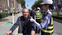 林州交警在路上