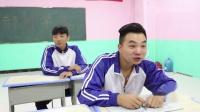 老师让同学比赛吸乒乓球,男同学拿出吸管后同学果断弃权,太逗了