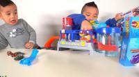 超大洗车热轮换色器彩色飞溅科学实验室玩具套装CKN