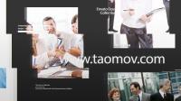 096时尚平面图片文字简介产品宣传推广黑白图文相册包装动画AE模板