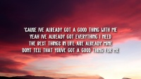 Zedd & Kehlani - Good Thing (Lyrics)