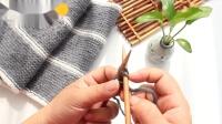 温暖你心 如何织围巾之3正5反男士围巾教程