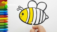 童谣和可爱的蜜蜂绘画着色|图画书