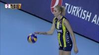 费内巴切 vs 瓦基弗银行 - 2019/2020土耳其女排联赛第5轮