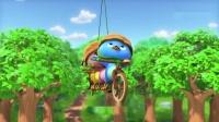 萌鸡小队:萌鸡们力气太小了,四个人合力,才勉强蹬动脚踏车!