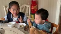 和姐姐吃早饭19.10