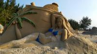 海南陵水清水湾沙雕艺术,真是大开眼界