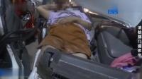 面包车追尾,现场惨不忍睹,副驾女子满脸是血被困车内!