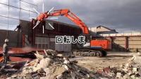 日立ZX210-5B挖掘机拉倒工字铁