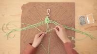 闲惠居家 Macrame手工diy创意编织树叶挂饰