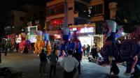 2020年1月18日即己亥年腊月廿四碣石镇西门社区可塘社五色狮灯排练2