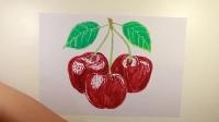 看视频学画画之樱桃,5分钟学会一幅画,高鳍红剑作品