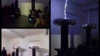 新宝岛 · 双机位 特斯拉线圈演绎 · 另类视觉 高压电的魅力 视频最后着火了