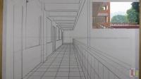 平行透视的走廊 上