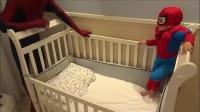 爸爸和小正太扮演蜘蛛侠,儿童玩具动画.mp4