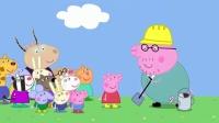 小猪佩奇:猪爸爸带孩子做实验,大家不会搭积木,只有艾德蒙聪明!