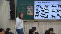 部编五年级下册《石壁上的九色鹿》优质课视频,湘美2011课标版