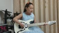 山东滕州  吉他小屋  隋文婕  电吉他演奏《嘀嗒》教材版