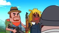 香肠派对:霸哥与马可波起争执打赌,输的带绿帽谁知这俩都是菜鸡