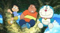 哆啦A梦:胖虎等人被困,哆啦A梦用诱饵,总算把板齿...