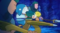 哆啦A梦:大鳗鱼被攻击,竟直接变小了,好像有人操控...