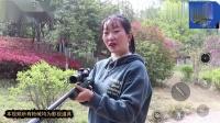 绝地求生真人版:妹妹捡维克托冲锋枪,入决赛圈双杀灭敌,真厉害