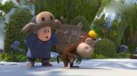 熊熊乐园:吉吉让光头强给自己按摩,不料强哥直接上脚,太味了!