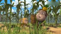 熊熊乐园:吉吉瞧不上普通玉米,要摘到最大的,小的都给了毛毛!