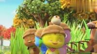萌鸡小队:萌鸡们骑车穿过草丛,麦奇头上是什么东西?看着好可爱