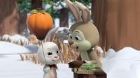 萌鸡小队:小兔子打水喂妹妹喝,妹妹的气球飞走了