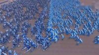 奥特曼内战:1000名无限赛罗vs1000名月神形态的高斯奥特曼!