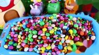 班班和莉莉的小王国下彩虹雨的玩具故事 鲨鱼宝宝巧克力豆零食
