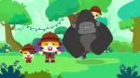 宝宝巴士认知森林动物-猫头鹰头还能这么转第一次知道。