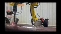 马鞍形8轴联动机器人焊接生产线
