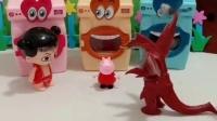 怪兽吓得乔治钻到了洗衣机,奥特曼过来了,吓得怪兽赶紧跑!