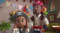 超级飞侠:包裹到达,是一个海盗帽,乐迪想和凯丝一起去寻宝