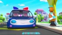 宝宝巴士:智能机器人手变成加油枪,帮警车加个油,太厉害了