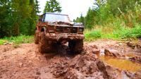 卡车越野泥泞-路虎卫士,吉普车,福特