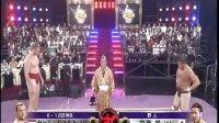 日本壮汉中西学相扑对阵打败比他高一个头的白人壮男