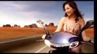 卫兰Janice 出道前与黎明拍三铃摩托车广告