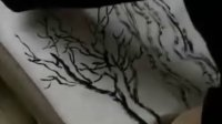 张仃焦墨山水画技法