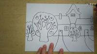 果园的苹果熟了,还有可爱的房子怎么画3-5岁幼儿美术跟李老师学画画